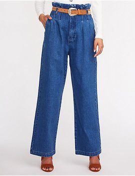 refuge-hi-rise-wide-leg-denim-jeans by charlotte-russe