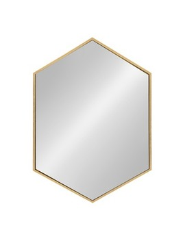 Kate And Laurel Mcneer Large Hexagon Metal Wall Mirror by Kate & Laurel All Things Decor