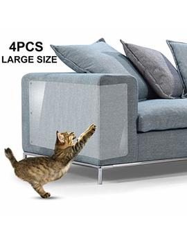 "In Hand Furniture Scratch Guards, X Large Premium Flexible Vinyl Cat Couch Protector Guards With Pins For Protecting Your Upholstered Furniture, Cat Scratch Deterrent Pad, 18"" L X 12"" W by In Hand"