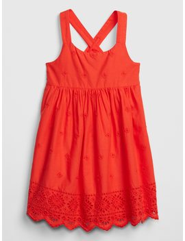 Eyelet Crossback Dress by Gap