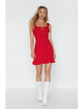 The Way To My Heart Ruffle Dress by Nasty Gal