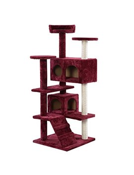 New! New Cat Tree Tower Condo Furniture Scratch Post Kitty Pet House Play Wine by Polar Bear's Pet