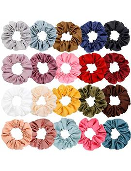 Chloven 12 Colors Large Premium New Velvet Hair Scrunchies Silk Elastic Hair Bobbles Scrunchy Hair Ties Ponytail Holder Hair Accessories Scrunchies For Hair by Chloven