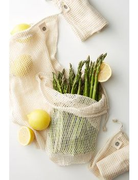 Ever Eco 4 Pack Organic Cotton Net Produce Bags by Ever Eco