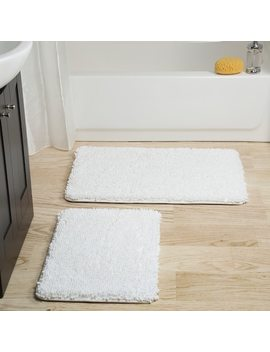 Portsmouth Home 2 Piece Memory Foam Shag Bath Mat by Kohl's
