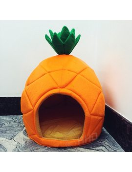 Creative Cute Pineapple Pet House Sleep Basket Cat Puppy Dog Bed For Small Dogs Litter Lounger Foldable Kennel Sofa Niche Cave by Jusenda