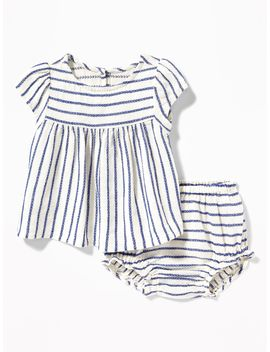 Linen Blend Top & Bloomers Set For Baby by Old Navy