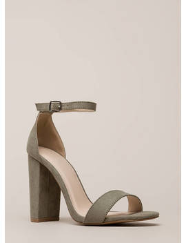 Carpe Diem Chunky Ankle Strap Heels by Go Jane