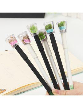 Cute Garden Grow Grass Gel Pen Kawaii Korean Stationery Creative Gift School Supplies 0.5mm Plant Gel Pen by Tenfon