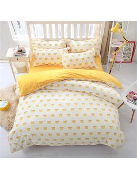 Best.Wensd Simple Korean Style Luxury Bedding Set King Size Cotton Bedclothes Duvet Cover Sets Sheets Pillow Case Comforte Set  by Best.Wensd