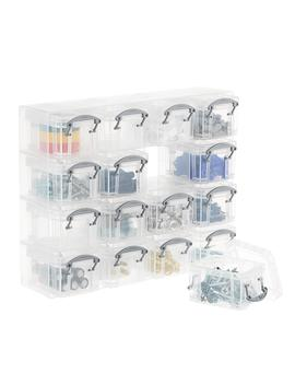 Clear 16 Latch Box Small Parts Organizer by Container Store