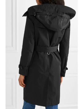 The Kensington Leather Trimmed Shell Trench Coat by Burberry