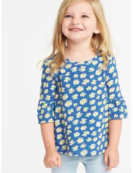 Bell Sleeve A Line Top For Toddler Girls by Old Navy