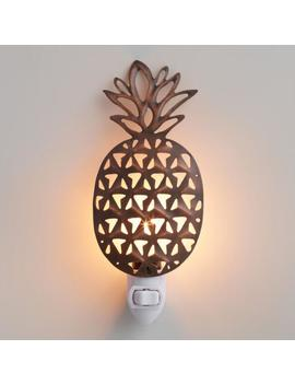 Antique Bronze Pineapple Night Light by World Market