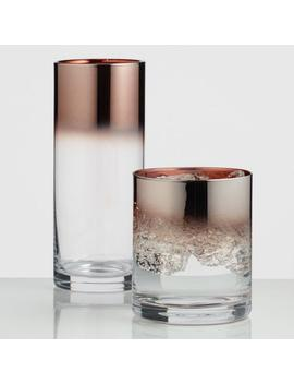 Metallic Copper Ombre Glassware Collection by World Market