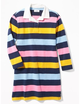 Bold Stripe Rugby Dress For Girls by Old Navy