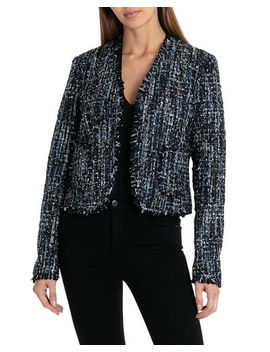 Tweed Open Front Jacket by Bagatelle