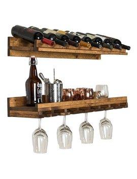 Del Hutson Designs Rustic Luxe Wine Bottle And Stemware Set by Generic