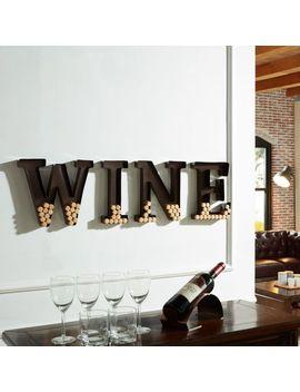 Danya B Metal Wall Mount 'wine' Letters Cork Holder by Generic