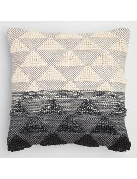Black Woven Triangle Indoor Outdoor Throw Pillow by World Market