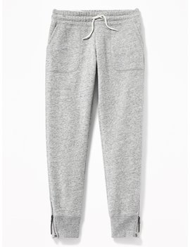 French Terry Ankle Zip Joggers For Girls by Old Navy