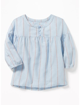 Striped 3/4 Sleeve Swing Blouse For Girls by Old Navy