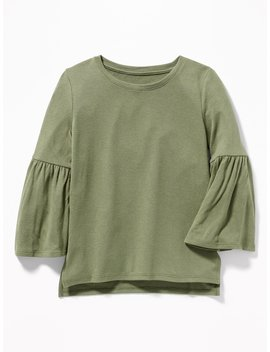 Plush Knit Bell Sleeve Top For Girls by Old Navy