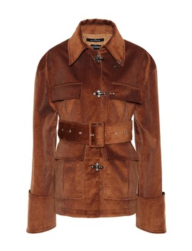 Belted Corduroy Jacket by Rokh