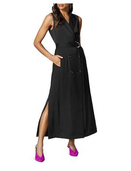 Belted Tuxedo Maxi Dress by Karen Millen