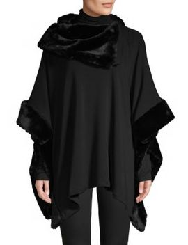 Faux Fur Asymmetric Poncho by Saks Fifth Avenue