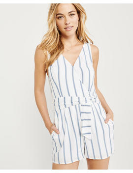 Sleeveless Tie Front Romper by Abercrombie & Fitch