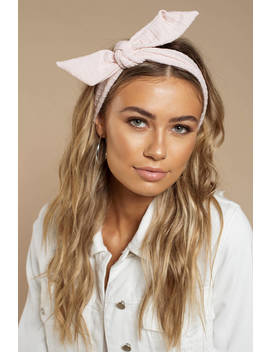 Yuko Light Pink Wired Headband by Tobi