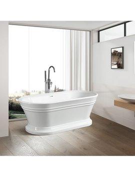"Va6610 59"" X 24"" Freestanding Soaking Bathtub by Vanity Art"