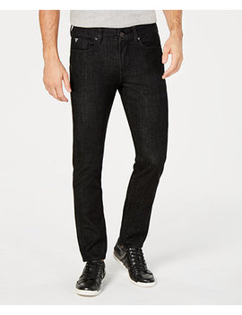 Men's Slim Fit Tapered Blackout Jeans by Guess