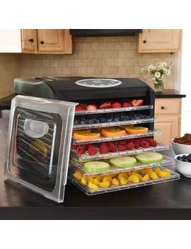 Ivation Electric Countertop Food Dehydrator With 6 Drying Racks, Digital Temperature Controls And Timer With Automatic Shutoff by Generic