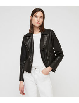 Vela Leather Biker Jacket by Allsaints