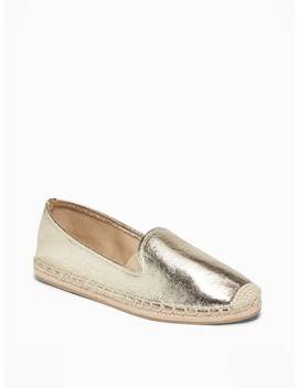 Faux Leather Espadrilles For Women by Old Navy