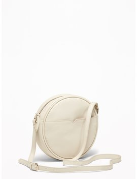 Faux Leather Crossbody Circle Bag For Women by Old Navy