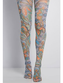 Paisley Days Tights by Modcloth