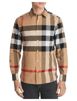 windsor-check-pattern-classic-fit-shirt by burberry
