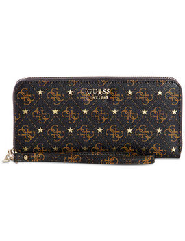 Affair Signature Zip Around Wallet by Guess
