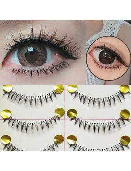 10 Pairs Makeup Handmade Natural Under Lashes False Eyelashes Lower Bottom Eye Lashes by Visofree