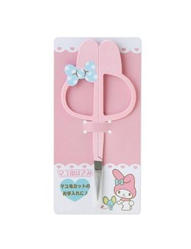 Cute Makeup Scissor Stainless Steel Tilted Tip Anti Skid Handle Eyebrow Nose Hair Beauty Scissors Face Hair Trimming Beauty Tool by Dower Me
