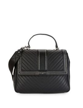 Textured Leather Satchel by Karl Lagerfeld Paris