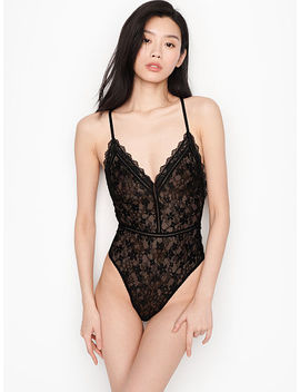 New! Crossback Lace Teddy by Victoria's Secret