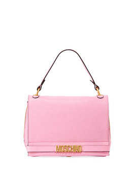 Medium Leather Shoulder Bag by Moschino