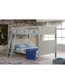 Kids Gray Panel Full Over Full Bunk Bed With Ladder by Pier1 Imports