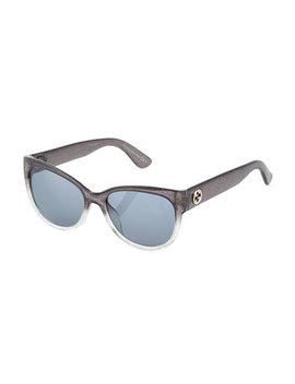 Square Plastic Sunglasses by Gucci