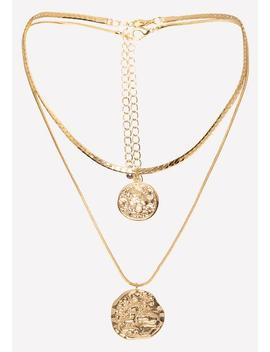 Coin Pendant Necklace Set by Bebe