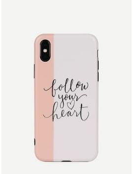 Letter Pattern I Phone Case by Sheinside
